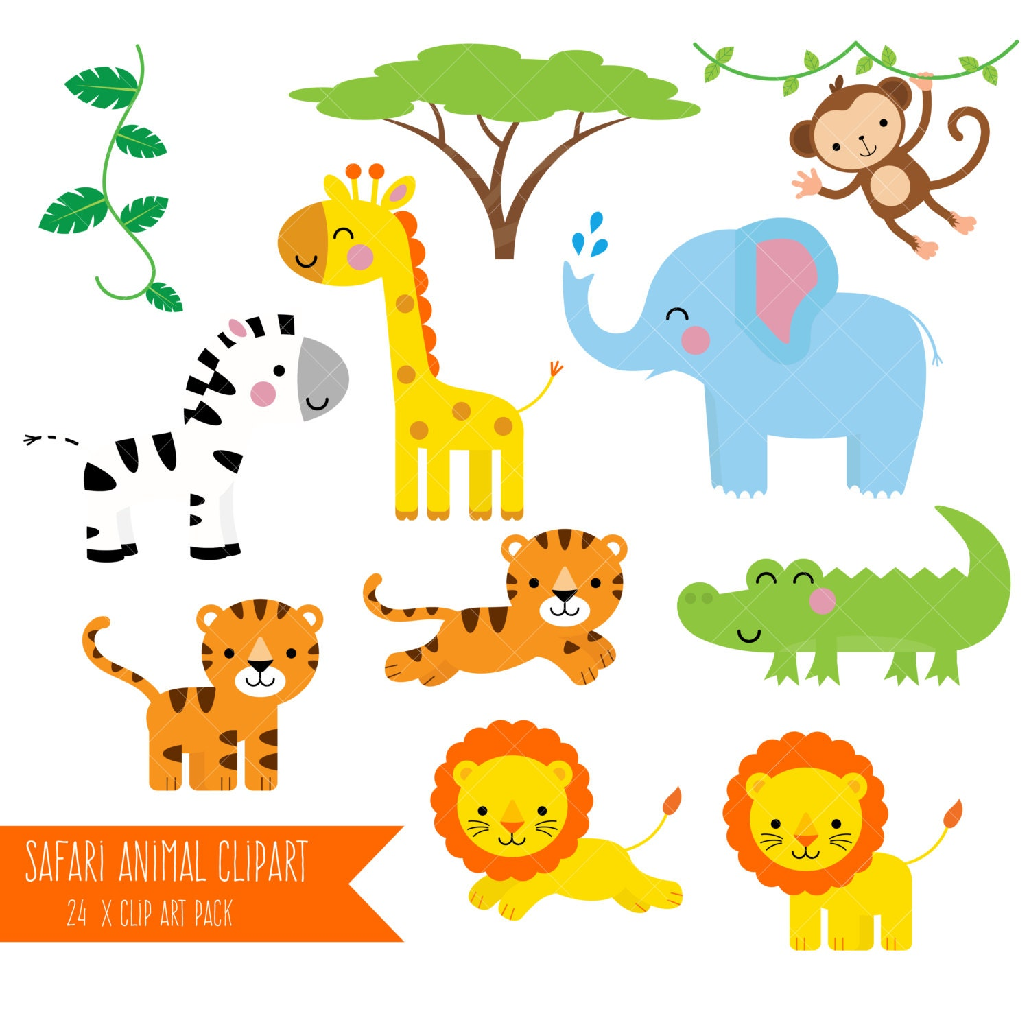 It is a graphic of Nifty Free Printable Jungle Animals