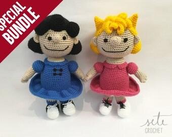 SPECIAL BUNDLE: Amigurumi Crochet Pattern - Lucy van Pelt and Sally Brown [Peanuts]