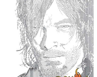 Daryl Dixon Poster, Daryl Dixon Digital Download, Walking Dead Poster, Walking Dead Digital Download