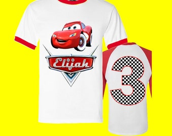Disney Cars Birthday Shirt - Cars Birthday Shirt