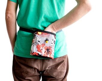 Chalk Bag Climbing. Magnesium Bag Climbing Pouch. Chalkbag Handmade. Gift for a Rock Climber. L Size, With Elliptical Bottom