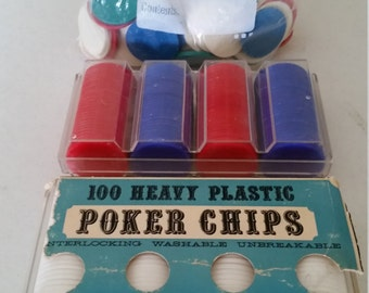 298 vintage casino poker chips - 200 crisloid & 98 unmarked collectible game pieces  red white blue green acco usa bakelite gaming las vegas