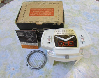 Vintage Kitchen Appliance, Vintage Veg-O-Matic In Original Box With Instructions