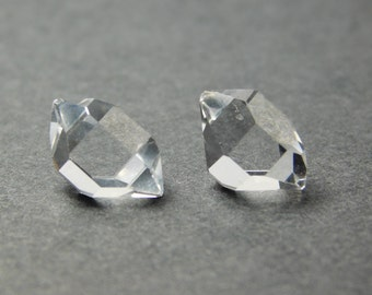 A Pair(2) of Stunning Herkimer Diamond Water Clear Quartz Crystals