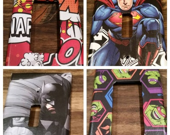 Comic Book Light Switch Cover, Comic Switchplate, Batman, Superman, TMNT, Boom/Pow, Comic Book Light, Comics Decor, Comic Book Decor