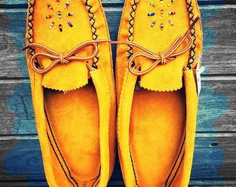 Authentic, Native made, Moccasin House Shoes