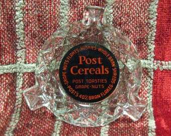 """Vintage Post Cereal Ashtray Grapenuts Advertising 1930""""s Collector's Gift from Post Cereal"""