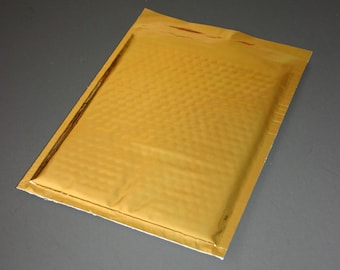10 6x9 Gold Metallic Bubble Mailers Size 0 Self Sealing Shipping Envelopes