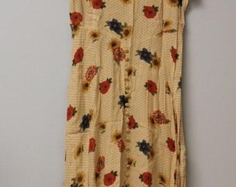 floral 70's maxi dress