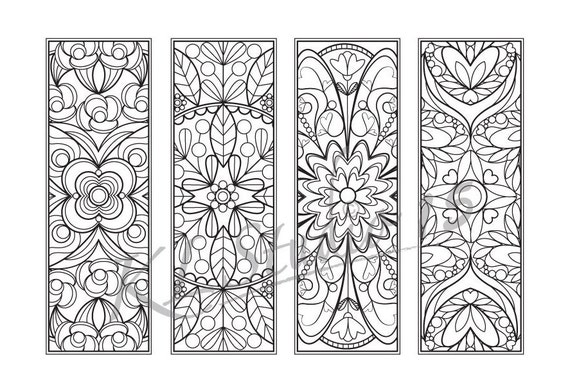 Easter Coloring Bookmarks Page Instant Download Relax