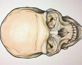 Skull - A4 Original