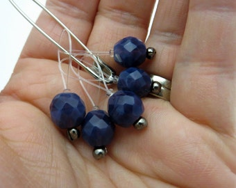Snagless Stitch Markers | Purple Jewel | Snagfree Stitch Markers | Knitting Stitch Markers