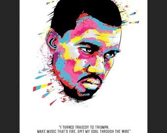 Kanye West 6'' x 4'' Print