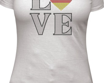 Love Germany rhinestone tee shirt