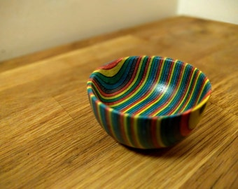 SpectraPly Small Colored Wooden Bowl