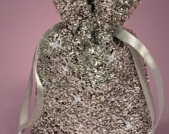 Silver Metallic Glam Favor Bag