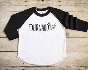 Fourth Birthday Shirt - 4th Birthday Shirt - Four Shirt - Boy's Birthday Shirt - Girl's Birthday Shirt - Kids Raglan Tee - Fournado Shirt
