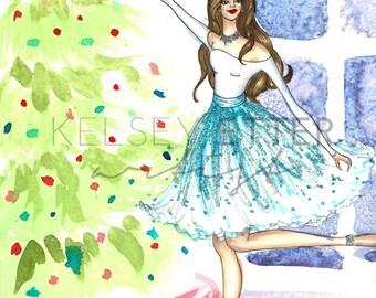 Fashion Illustration- Decorating the Tree