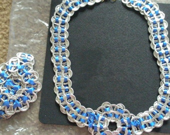 Handmade Soda Tab Bracelet and Necklace Set