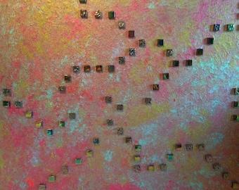 "Painting - Acrylic 20x24 Piece entitled ""Maze Work"""