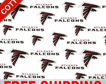 "Atlanta Falcons Cotton Fabric NFL Style ATL-6209 60"" Wide Free Shipping"