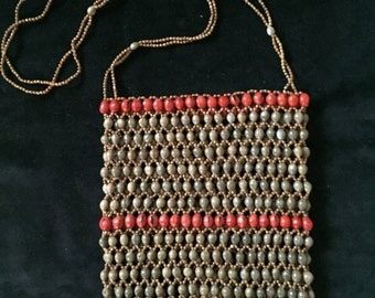 Vintage Beads and Bean Purse