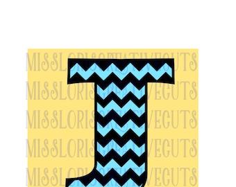 Chevron Letter monogram  J  SVG Cut file  Cricut explore filescrapbook vinyl decal wood sign cricut cameo Commercial use