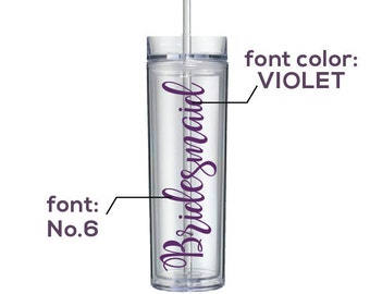 Personalized Clear Tumblers