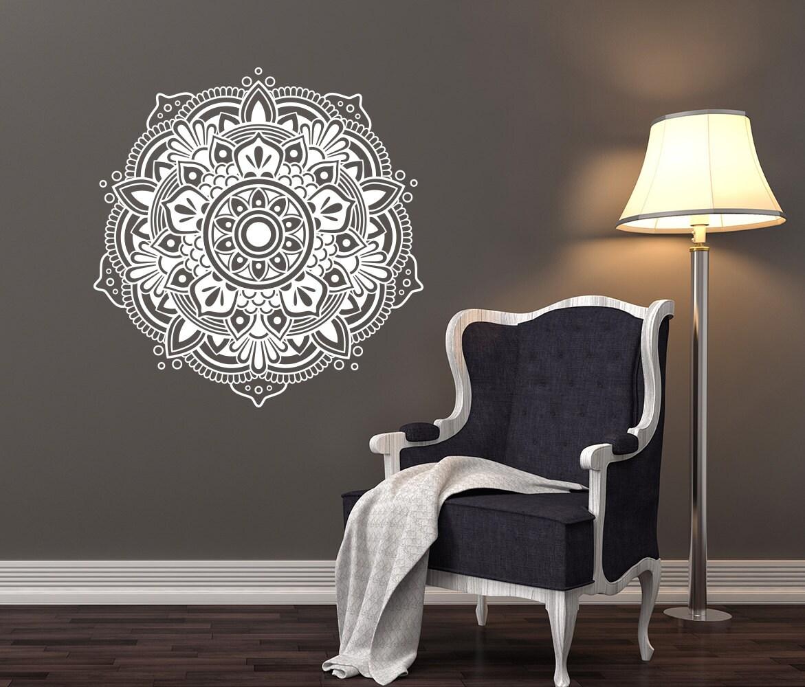 Nouveau mandala mural stickers chambre yoga autocollant motif for Chambre yoga