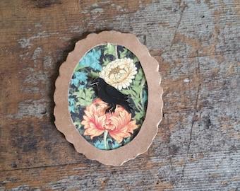 Handmade Vintage Crow Magnet