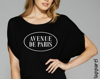 Avenue De Paris,  drapped sleeve dolman shirt, flowy, comfort, tops and tees, women's clothing