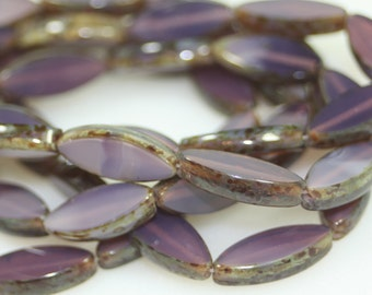 Czech Spindle Beads 16x6MM