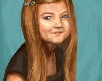 Customized Digital Painting Portrait of People and Pets