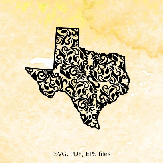 Texas State Svg Pfd Eps Cutting Files For Silhouette