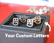 Personalized Cufflinks // Custom Cufflinks // Wedding Cufflinks // 3D Printed Metal Cufflinks // Custom Gift // Gift for Him