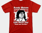 Randy Watson T-Shirt - Funny Coming To America Randy Watson World Tour 1988 Shirt - Good and Terrible - Sexual Chocolate Band Shirt