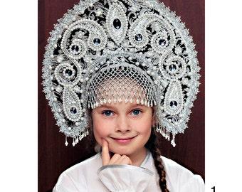 Russian traditional kokoshnik Tatyana