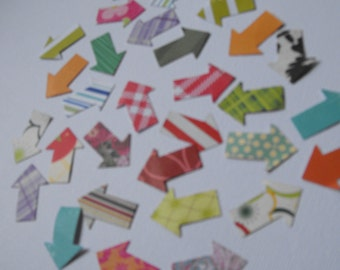 Handmade Die Cut Arrows made from Quality Patterned Scrapbooking Paper