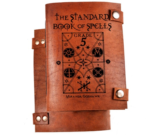 Spell book - Harry potter spell book - book of spells - book for spells - leather journal - spell journal - spells notebook