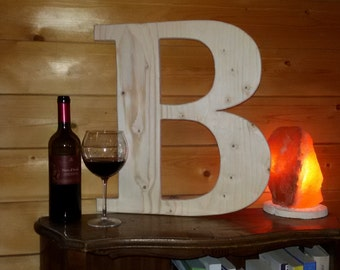 Big (about 20 inch)  custom wood letters for home decor, furniture, celebrations, anniversaries, wedding day, gift ideas, etc.