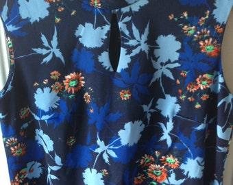 Plus size vintage kimono style floral maxi dress