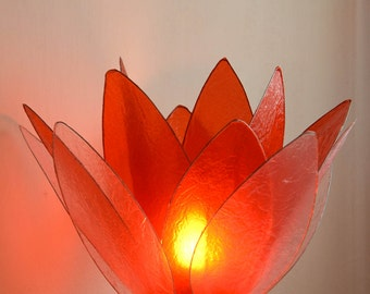 Red Tulip flower lamp
