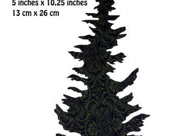 Fusible Hand Cut Appliqué: Christmas Fir Tree