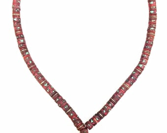 Tribal, Yak bone, Prayer Mala, Necklace, Turquoise, Coral