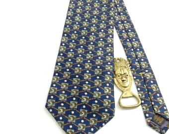 STUDIO Vintage Tie, Made in USA, original WPL tag,Geometric necktie,100% Silk ,!!!