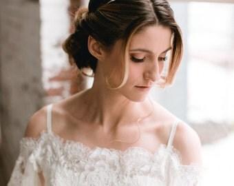 SOPHIA - glamorous rose quartz ombre bridal tiara, glam bohemian raw crystal wedding crown, boho modern bride headpiece