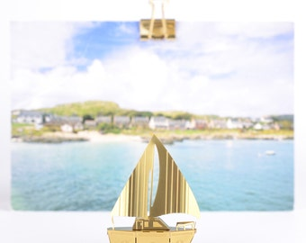 Miniature gold model boat, build your own model kit