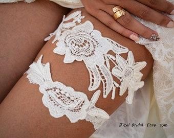 Off White Garter, Wedding Garters,  Lace Garters,  Bridal garters,  Garter Sets, Bridal  Accessories, Flower Garters,  Wedding garter Belt