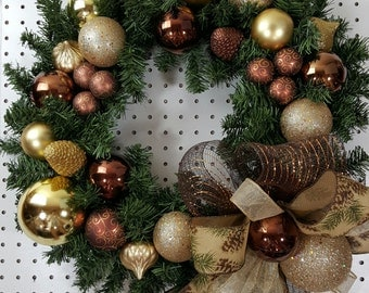Brown & Gold Wreath