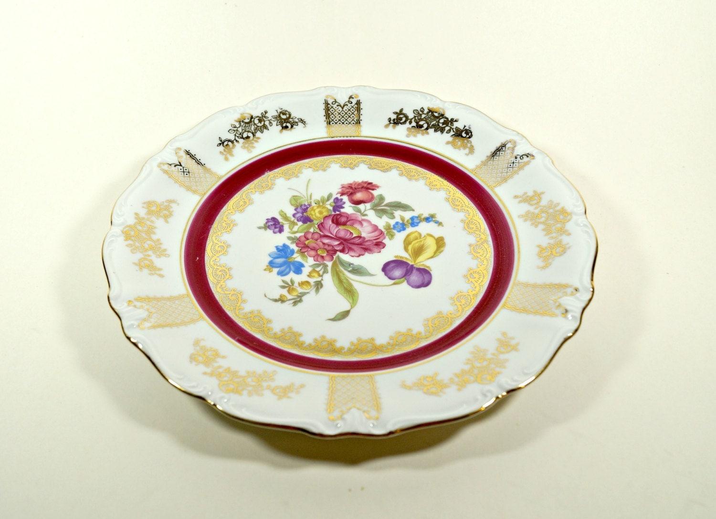 floral pattern dish vintage floral plate vintage plates
